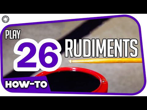 How To Play 26 Rudiments (by My Drum School)