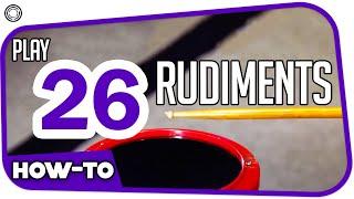 26 rudiments (by My Drum School)
