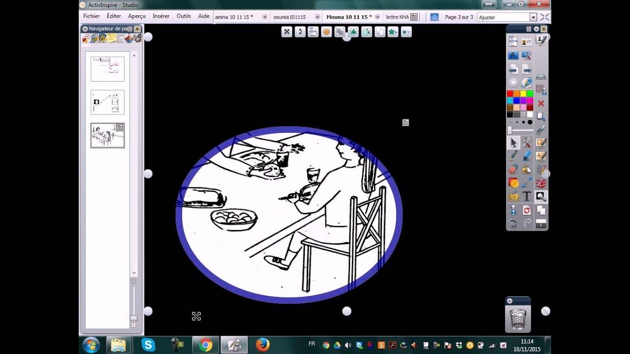 03 Insertion D Image Et Rideau Dans Le Tableau Interactif Active