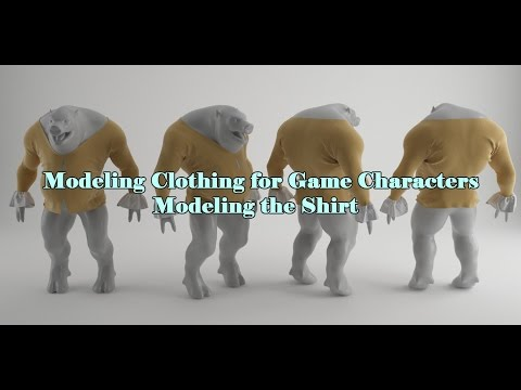 Creating Clothing for Game Characters : Creating The Shirt