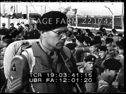 Suez Crisis: British Troops, etc 221742-01 | Footage Farm