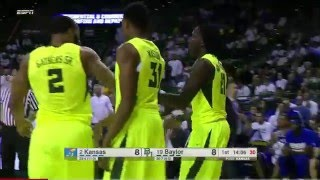 #2 Kansas vs #19 Baylor Basketball 2016 (Full Game)