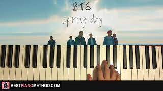 HOW TO PLAY - BTS (방탄소년단) - Spring Day (Piano Tutorial Lesson)
