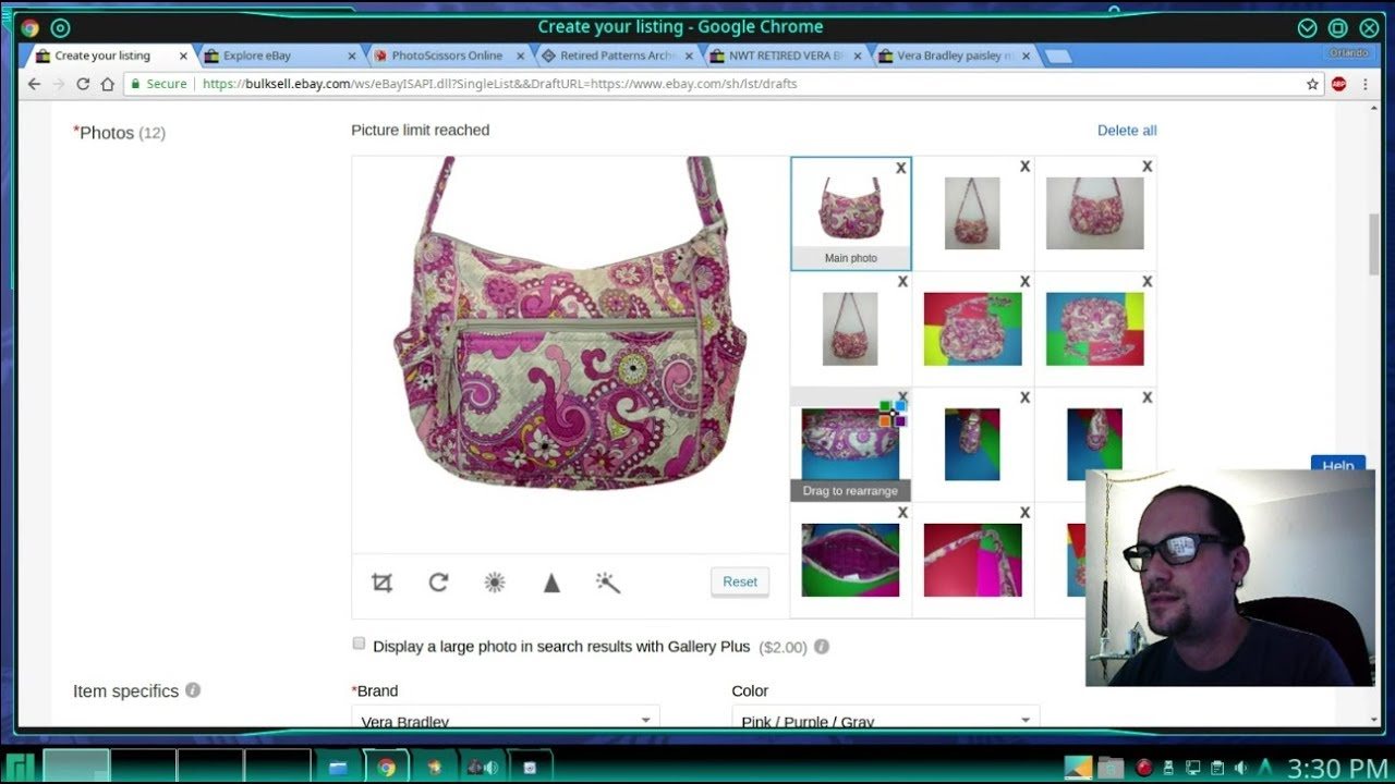 eBay How To List Vera Bradley Bags Retired Patterns Thrifting For Profit 0f424df298