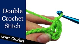 how to double crochet stitch beginner course lesson 9