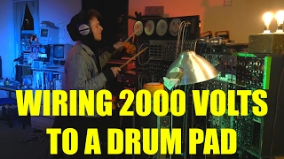 DRUM PAD PLUGGED UP TO A 2000 VOLT JACOBS LADDER