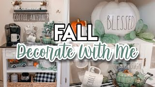 FALL DECORATE WITH ME 2019 :: FARMHOUSE DECORATING IDEAS :: FALL COFFEE STATION