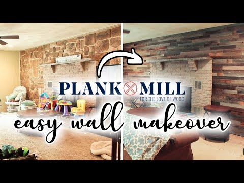 DIY Reclaimed Wood Accent Wall With Plank & Mill