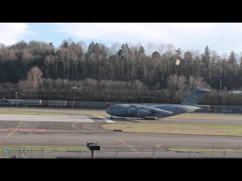 C-17 Takeoff from Boeing Field
