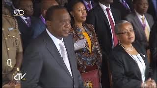 Le pape François célèbre la messe sur le campus de l