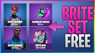 How To Get The BRITE Set *FREE* (Brite Bomber, Gunner, Brite Bag) Fortnite Battle Royale FREE VBucks
