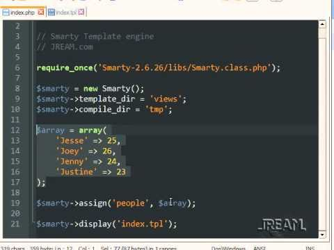 PHP Smarty Template Engine Tutorial - YouTube