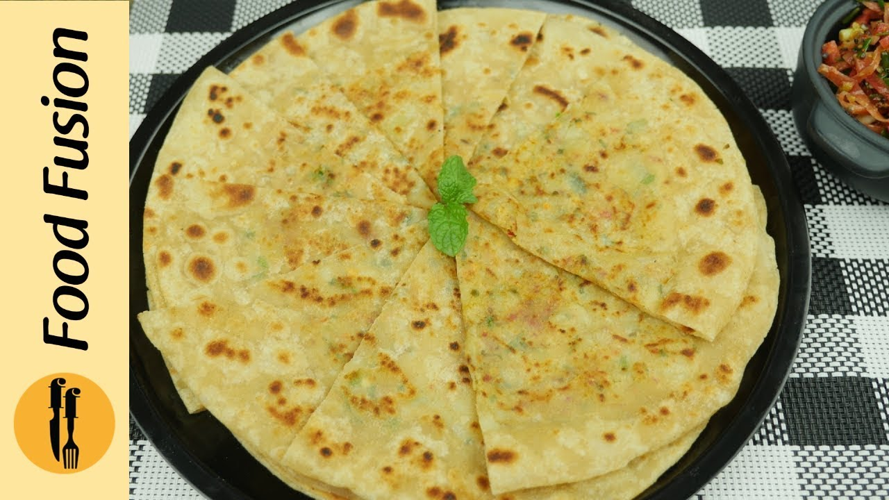 Aloo ka paratha with Instant Gajar ka achar Recipe By Food Fusion