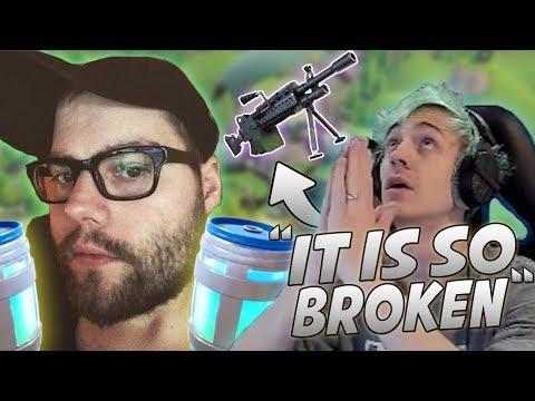 Ninja Reacts To New LMG And Uses It In-Game! Dakotaz Discovers Infinite Chug-Jug Glitch!