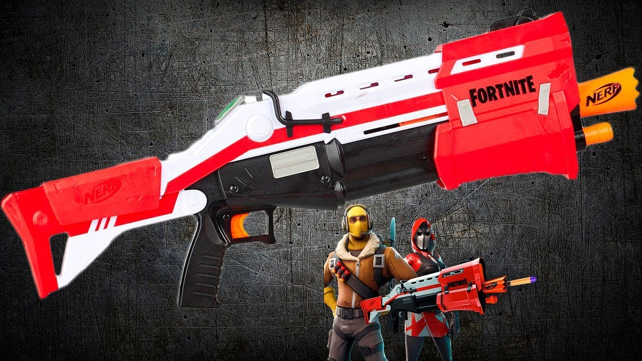 Фортнайт TC Обзор нерф бластера Fortnight TC Nerf Blaster Review
