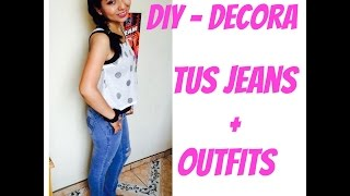 DIY Decorar y Rasgar tus jeans + Outfits -  malir15 Thumbnail