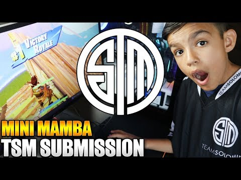 Mini Mamba TSM Submission Montage! 10 Year Old Little Brother's Fortnite Montage!