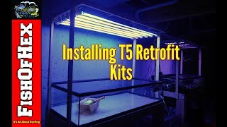 Installing T5 HO Miro-4 Retrofit Kits Over Frag Tank | Fish Room Setup Part 5