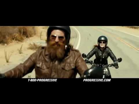 Redhead in geico motorcycle commercial