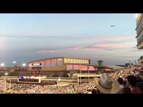 TEXAS TECH F-16 Flyover and Matador Song 9-16-17