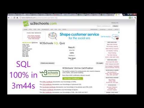 w3c (web standards) test scores