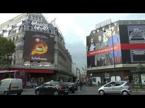 Paris France Boulevard Haussmann Galeries Lafayette
