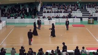 65th All Japan Kendo Championship 26   Round 1, Kasahara vs Sakatsume