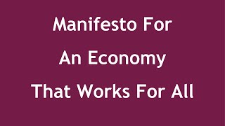 Manifesto For An Economy That Works For All - Interview with Shawn Berry