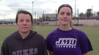 2016 JMU Lacrosse - Players Richmond Postgame - 3/12/16