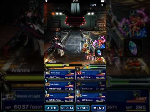 [FFBE] Final Fantasy Brave Exvius - Fort Vaullerey - Battle with Aranea - All Mission