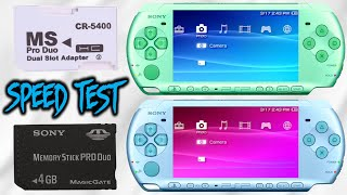 PSP - SD Memory Stick VS Sony Memory Stick! (SPEED TEST)