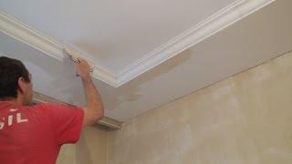 видео Оформление потолка в доме