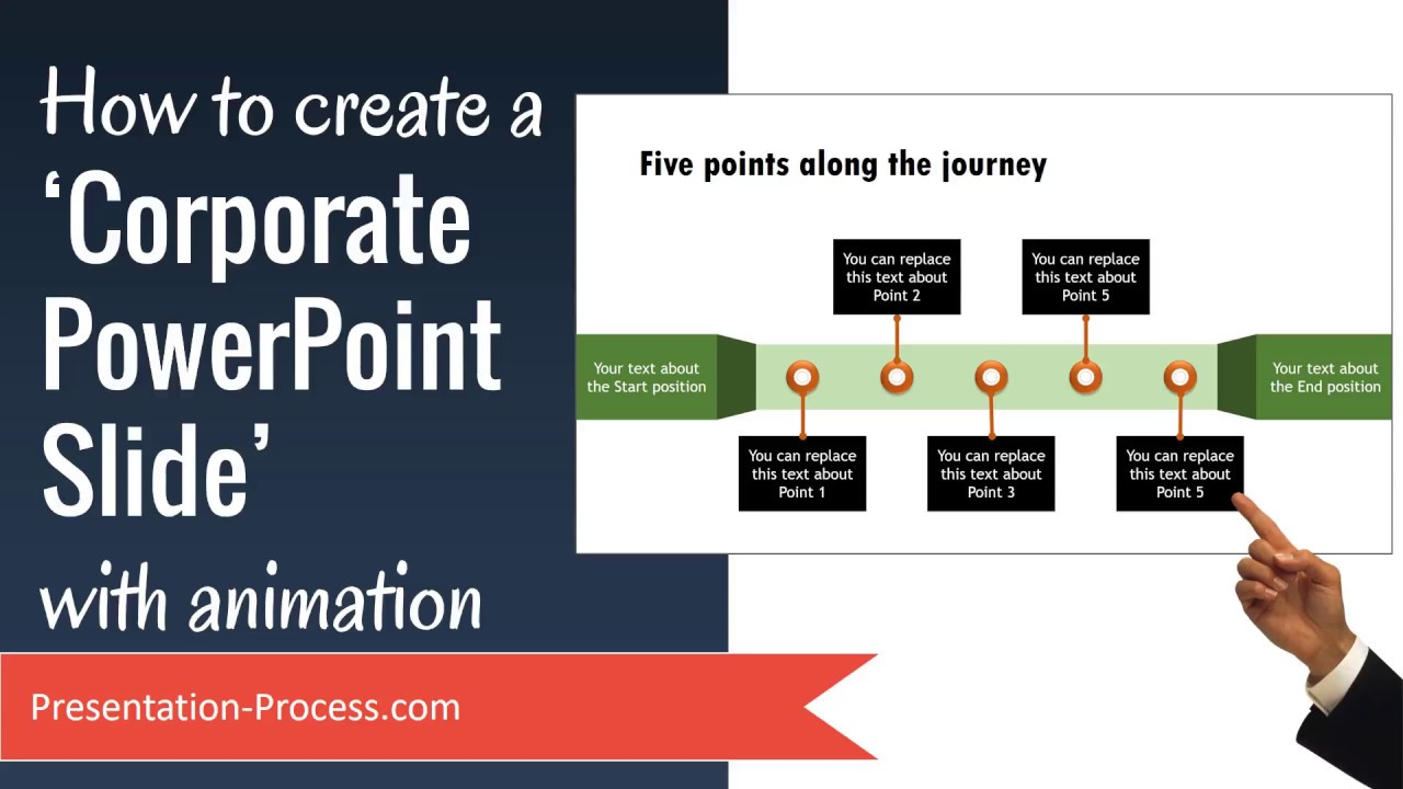 how to create a corporate powerpoint slide with animation youtube