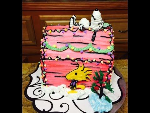 3DSnoopy Christmas Cake