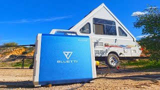 THE EASIEST WAY to Power your Entire Camper off Solar - maxoak Bluetti Lithium Battery Review