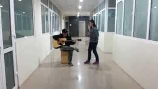 Hương đêm bay xa Cover - Acoustic - P.Ngân - Guitar Cường