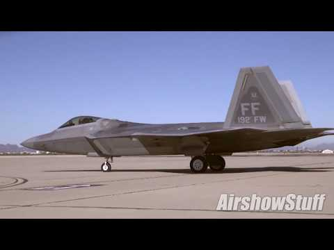 F-22 and A-10 Practice Demos - Heritage Flight Conference 2018