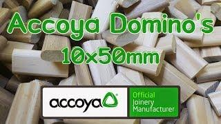 Making Festool Domino's: 10x50mm (Accoya wood)