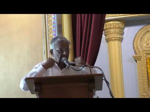 Talk by Sri Bombay Srinivasan - 33rd edition of SAMARPAN on 24th December, 2017, at Dharmakshetra.
