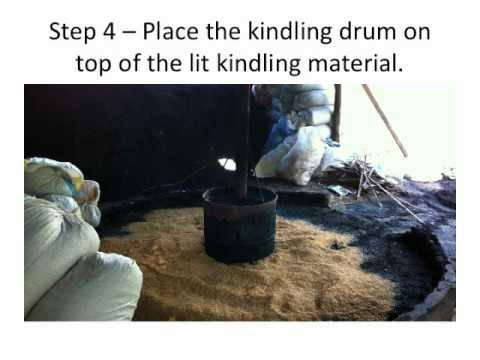how to make a carbonized rice hull