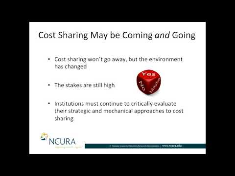 Cost Sharing: Is it Coming or Going? Part II: Is it Going?
