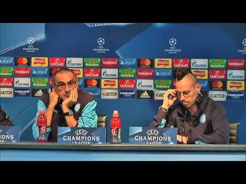 Champions League, Manchester City-Napoli: la conferenza di Sarri e Hamsik (16-10-2017)