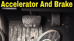 Accelerator And Brake Pedals-Beginner Driving Lesson