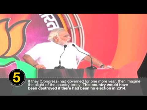 Ten quotes from Modi's rally in Mathura