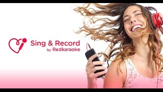 Sing & Record by Red Karaoke app preview