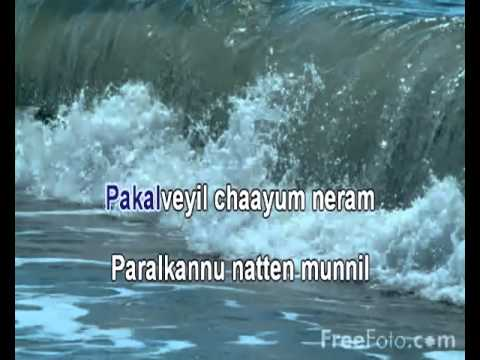 Kalabham tharaam, malayalam karaoke with synchronized lyrics for singing by D Sudheeran