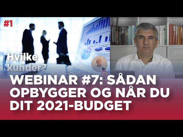 Sælger TV webinar #7: Sådan opbygger og når du dit 2021-budget