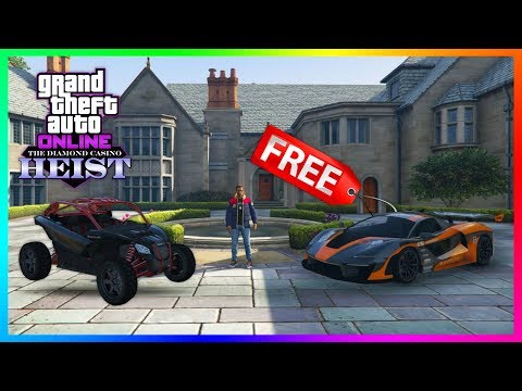 GTA 5 Online The Diamond Casino Heist DLC - NEW UPDATE! Lucky Wheel Supercars, Outlaw 4x4 & MORE!