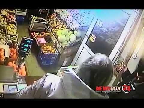 Ограбление овощной лавки в Большом камне попало на видео