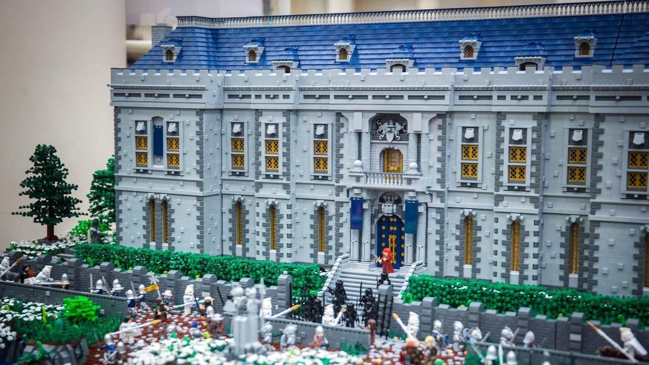 best lego castle at brickcon 2015 youtube